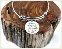 She believed she could Bracelet, She believed she could but she was really tired so she didn't Bangle, Handmade Inspirational Jewelry Gift