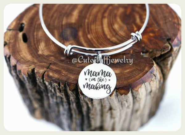 Mama in the Making Bracelet, Handmade Mom to Be Jewelry, Pregnancy Gift, Mama, Mommy, Future Mom, Baby Shower Gift, Bump Jewelry, Bump Gift