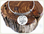 Find Joy In The Journey Bracelet,  Find Joy In The Journey Bangle, Inspirational Bracelet, Adjustable Bangle