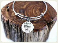 Not a home without Paw prints Bracelet, Road to my heart is paved with Pawprints Bangle, Handmade Pets Jewelry, Pets Bracelet