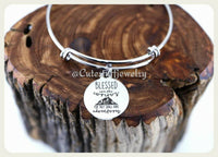 Blessed are the curious Bracelet, Adventure Bangle, Handmade Inspirational Jewelry, Waunderlust
