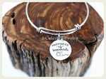 Happiness is homemade Bracelet, Baker Bangle, Baker Bracelet, Handmade Baker Jewelry