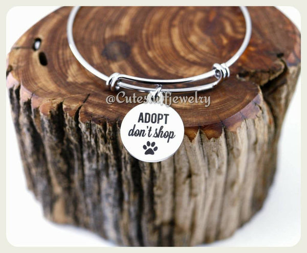 Adopt Don't Shop Bracelet, Rescue Dog Bangle