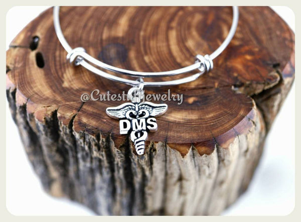 Doctor of Medical Science Bracelet, Doctorate of Medical Science Bangle