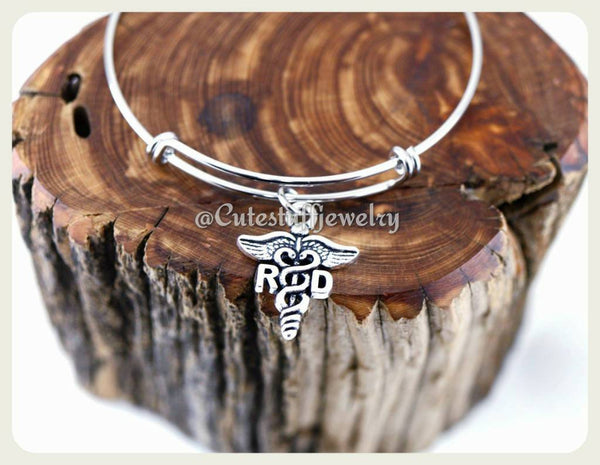 Registered Dietitian Bracelet, Registered Dietitian Bangle