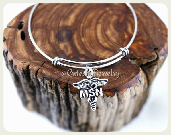 Master of Science Nursing Bracelet, Master of Science Nursing Bangle