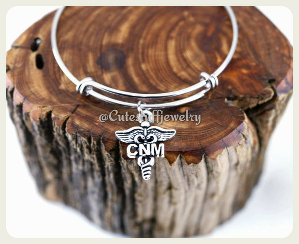 Certified Nurse Midwife Bracelet, CNM Bangle