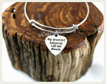 My greatest blessings call me Nonnie bracelet, Nonnie Bangle
