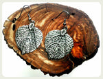 Handmade Rounded Leaf Earrings On Surgical Steel Hooks In Antique Silver Leaves Hypoallergenic Jewelry