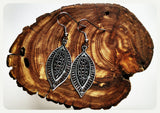 Handmade Oval Droplet Filigree Earrings On Surgical Steel Hooks In Antique Style Hypoallergenic Jewelry