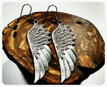 Hypoallergenic Wing Earrings, Antique Wing Earrings, Surgical Steel Hooks, Antique Silver Feather, Handmade Jewelry, Boho, Trendy Earrings