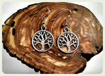 Tree of Life Earrings, Hypoallergenic Earrings, Surgical Steel, Surgical Steel Earrings, Tree Earrings, Boho, Handmade Jewelry, Nature Trees