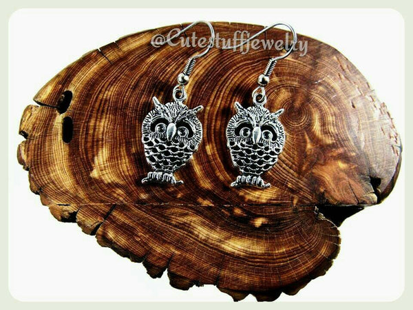 Hypoallergenic Owl Earrings, Hypoallergenic Earrings, Surgical Steel Earrings, Owls, Hedwig, Harry Potter, Larp, Jewelry, Athena, Silver Owl