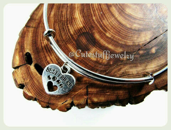 Best Friend Bracelet, Pet Best Friend, Paw Print Bracelet, Paw Print Bangle, Best Friend Bangle, Dog Best Friend, Cat Best Friend, Pets