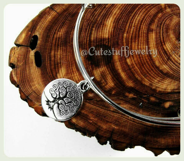 Tree of Life Bracelet, Handmade Bracelet, Tree of Life Bangle, Bridesmaids, Bridal, Bridesmaid gift, Boho, Family Tree Jewelry, Nature