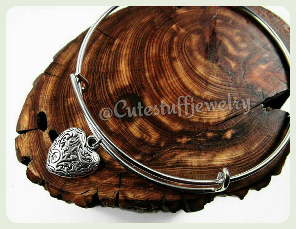 Filigree Heart Bangle