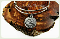 Master of Destiny Bracelet, You Are The Master of Your Own Destiny Bracelet, Master of Destiny Bangle, Handmade Inspirational Jewelry, Grad