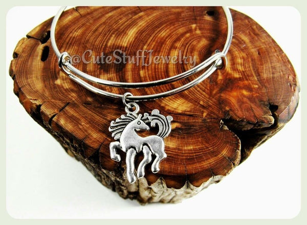 Silver Pony Bracelet, Pony Bangle, Horse Bracelet, Handmade Pony Jewelry, My Little Pony Bracelet, Horse Jewelry