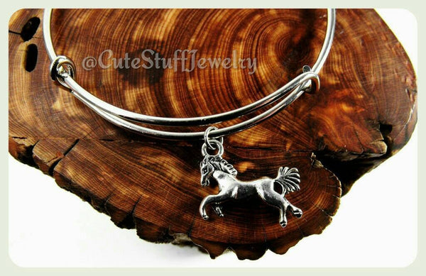 Silver Horse Bracelet, Silver Horse Bangle, Horseback Riding Bracelet, Handmade Horse Jewelry, Equestrian Bracelet, Horse Ranch Jewelry