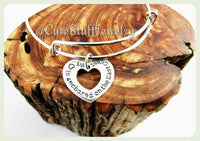My Heart Anchored on the East Coast My Bracelet, Heart Anchored on the East Coast Bangle, Heart Bracelet, Handmade Inspirational Jewelry