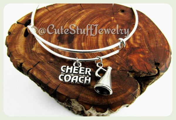 Cheer Coach Bracelet, Cheer Coach Bangle