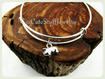 3d Pig Bracelet, Pig Bangle, Silver Piglet Bracelet, Handmade Pig Jewelry, Farm Bracelet, Farm Animal Jewelry, Piggy