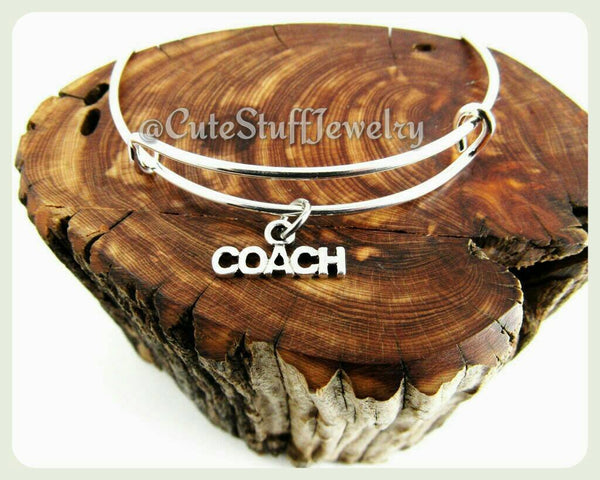 Sports Coach Bracelet, Sport Coach Bangle, Handmade Coach Jewelry,  Sports Bracelet, Sports Bangle, Coaches Jewelry Gift, Coaches Bracelet