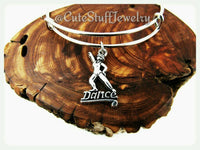 Dancer Bracelet, Dancer Bangle, Dance Bracelet, Dance Bangle, Handmade Dance Jewelry, Dance Team, Dance Squad, Dance Troop, Dancers Gift
