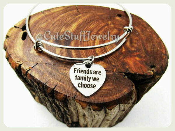 Friends Are the Family We Choose Bracelet, Friends are Family Bangle