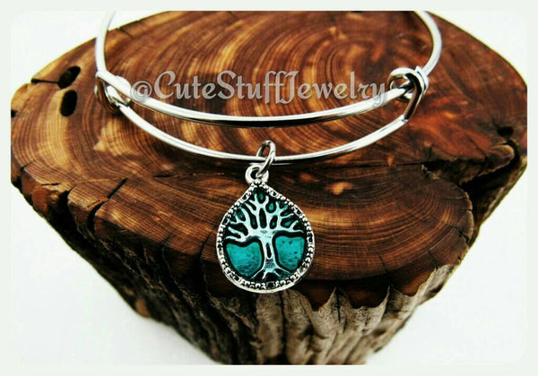 Celtic Tree Bracelet, Handmade Tree Bracelet, Tree of Life Bangle, Bridesmaids, Bridal, Bridesmaid gift, Boho, Family Tree Jewelry, Nature