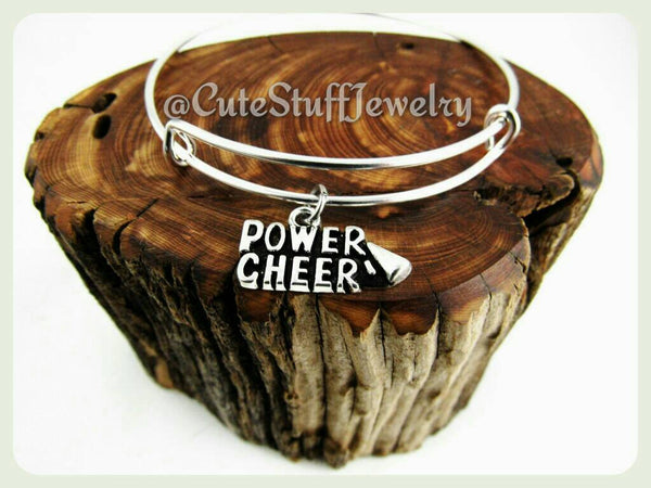 Power Cheer Bracelet, Cheer Bangle