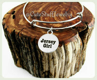 Jersey Girl Bracelet, Jersey Girl Bangle, Handmade Jersey Girl Jewelry, NJ Bangle, NJ Bangle, Handmade Jersey Jewelry, Boho Trendy Gift