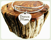 Dance Mom Bracelet, Dance Mom Bangle, Dancer Bracelet, Dancer Bangle, Handmade Dance Mom Jewelry, Dancers Mom Gift