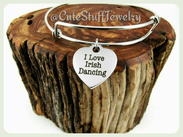 I Love Irish Dancing Bracelet, I Love Irish Dancing Bangle