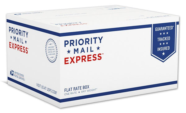 Previously placed existing order Priority Mail Express shipping upgrade