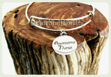 Awesome Nurse Bracelet, Awesome Nurse Bangle, Handmade Nursing Bracelet, Nurses Bracelet, Residential Nurse Bracelet, RN Bracelet Gift