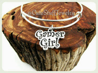 Gamer Girl Bracelet, Gamer Girl Bangle, Handmade Gamer Girl Jewelry, Gamer Gift, Geeky Girl, Geekery, Nerdy Girl, Gaming, Gamer Chick
