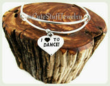 I Love To Dance Bracelet, I Love Dance Bangle, Dancer Bracelet, Dancer Bangle, Handmade Dance Jewelry, Dance Team, Dance Coach, Dancers Gift
