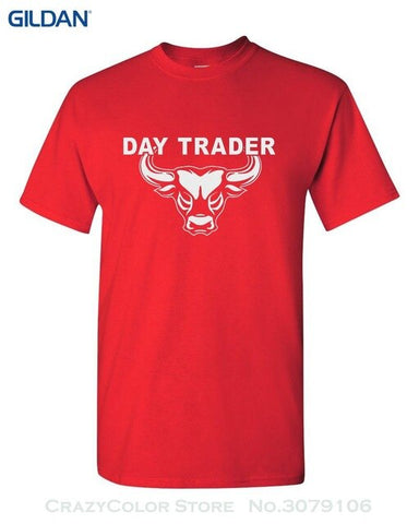 Image of Day Trader T Shirt Wall Street