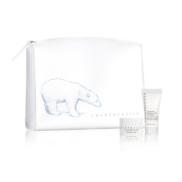Polar Gift With Purchase:<br>·Polar Bear Bag<br>·Bio Lifting Cream +<br>·Rice & Geranium Foaming Cleanser<br>Deluxe Samples