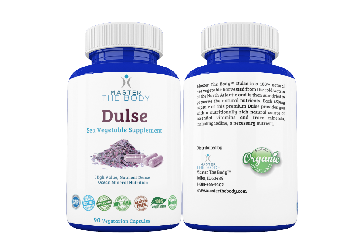 Organic Dulse Capsules 90 Count - Master The Body 2 Bottles