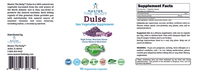 Certified Organic Dulse - Sea Vegetable Capsules