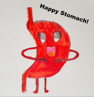 Happy Stomach hand drawn by Sofi Allison