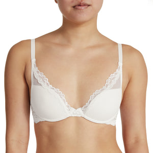 Laidback Lace Bra in White for AA, A, and B Cup Sizes