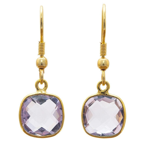 Gold-overlay Amethyst Earrings - Rising Star Leggings