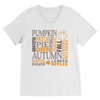 Fall Subway Art Premium V-Neck T-Shirt