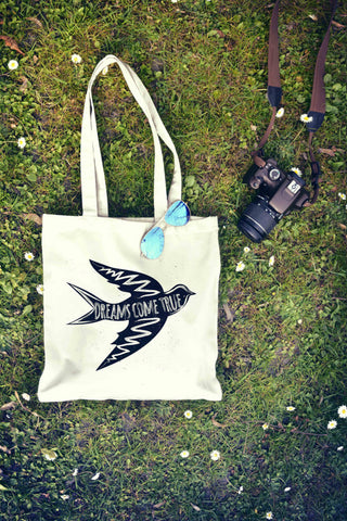 Dreams Come True Bird Tote Bag - Rising Star Leggings