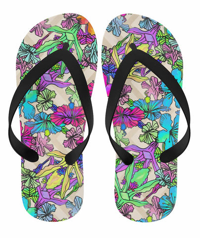 Pink Flowers Flip Flops - Rising Star Leggings