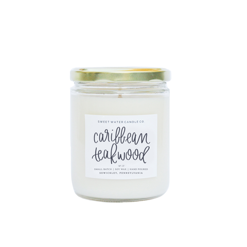 Caribbean Teakwood Soy Candle - Rising Star Leggings