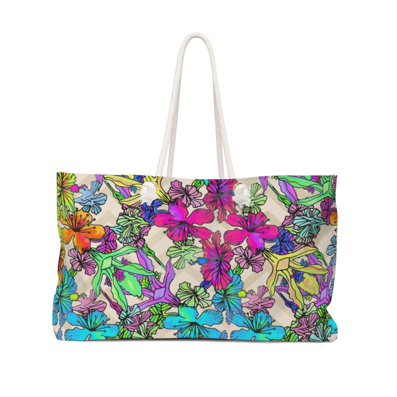 Pink Flowers Weekender Bag - Rising Star Leggings